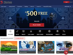 7 Sultans Casino Home